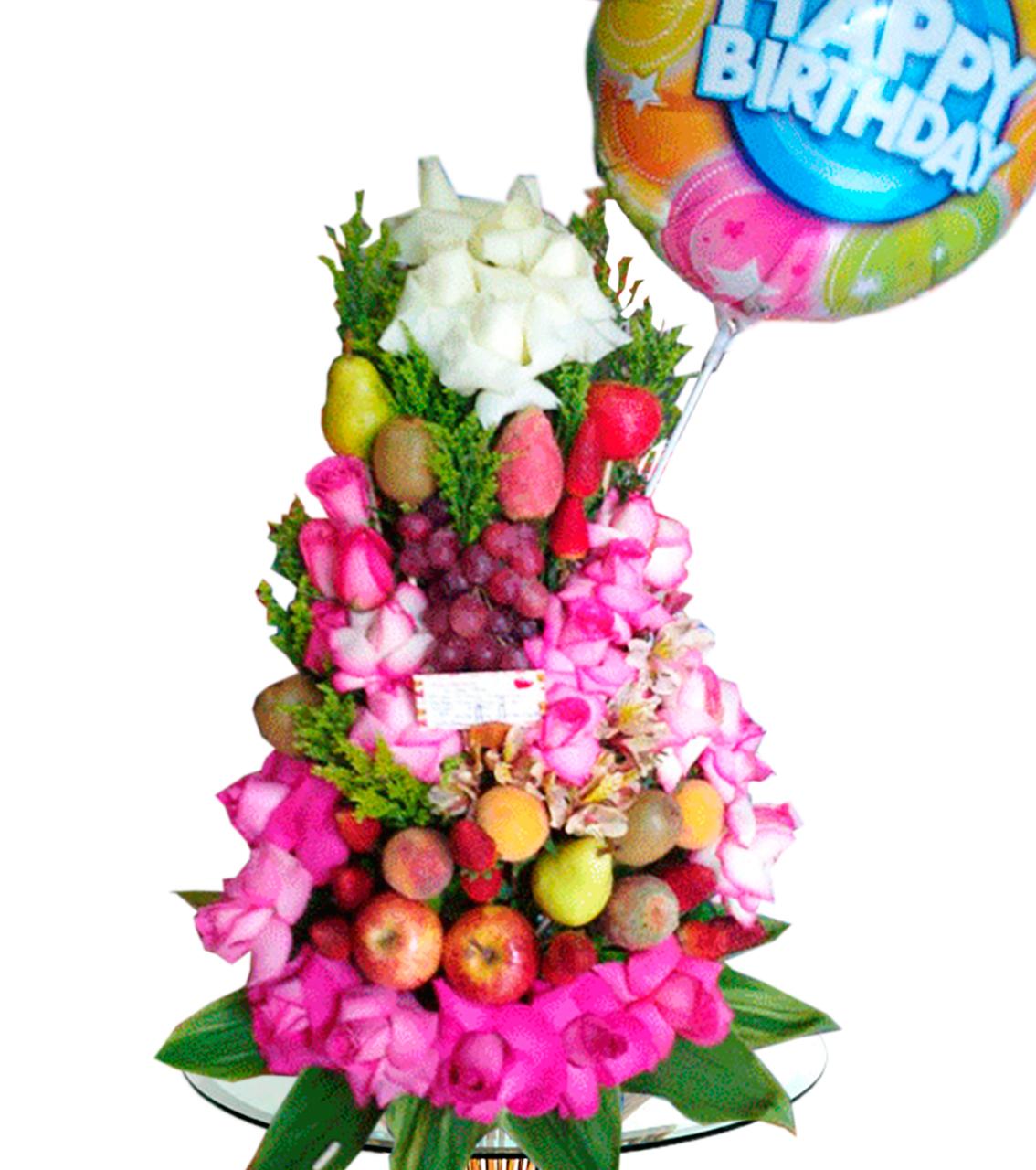 Bouquet con Frutas y Flores