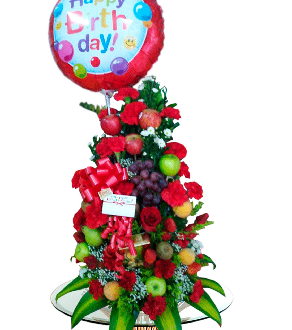 Bouquet con Frutas y Flores 2