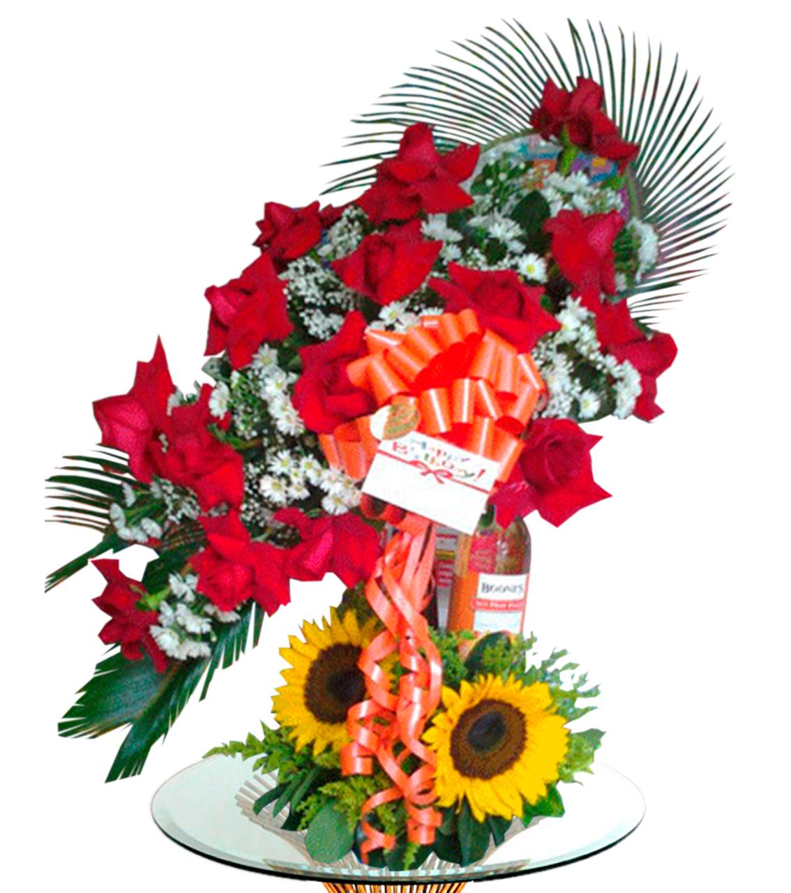 Bouquet con Vino