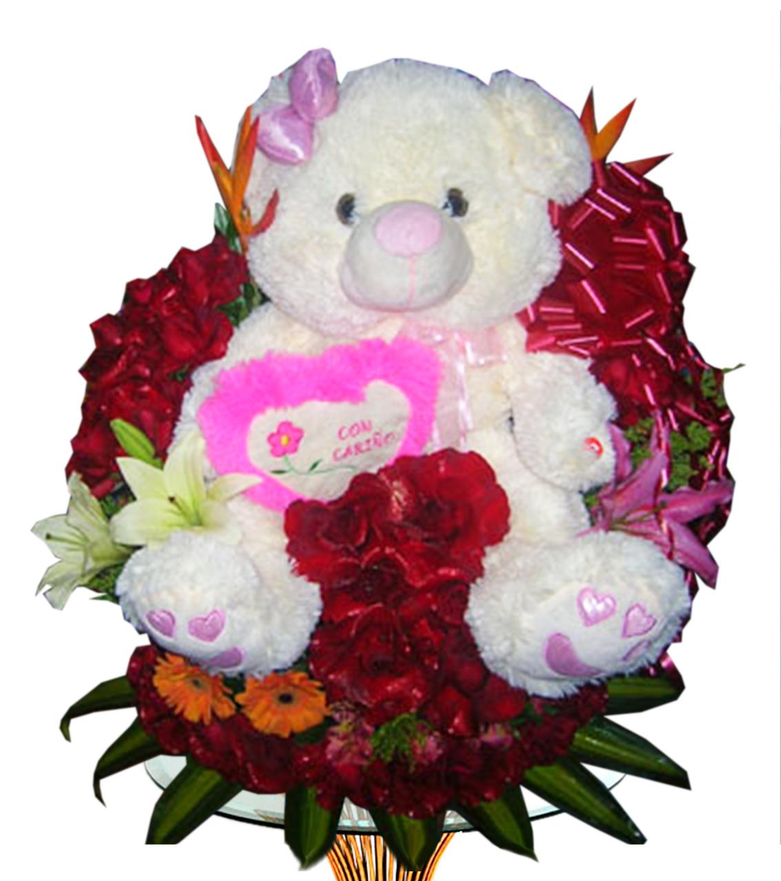 Bouquet con Peluche Ger