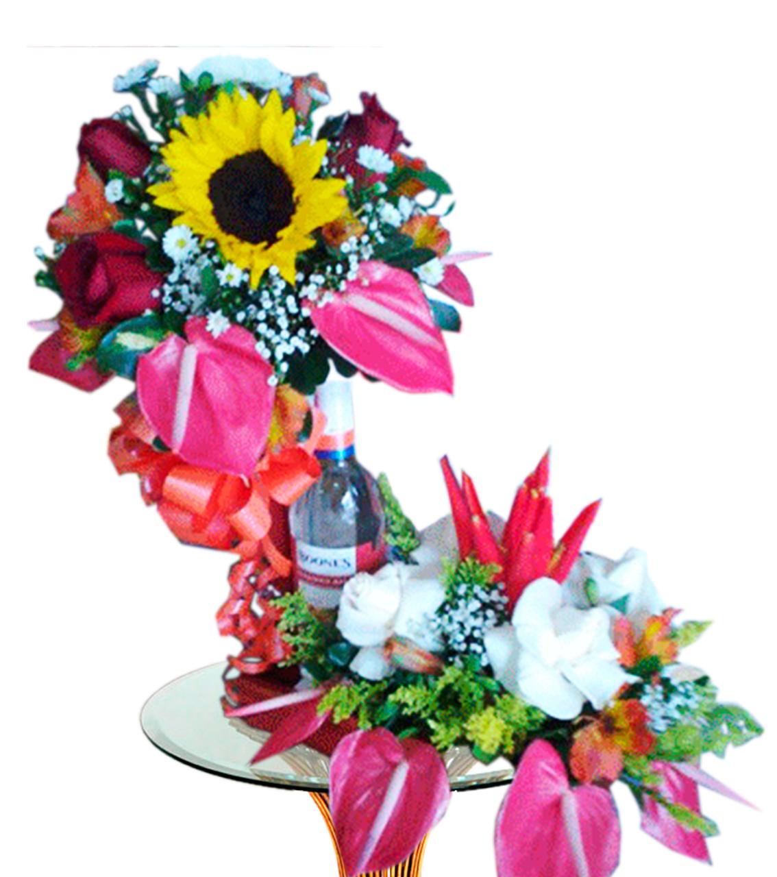 Bouquet con Vino 2