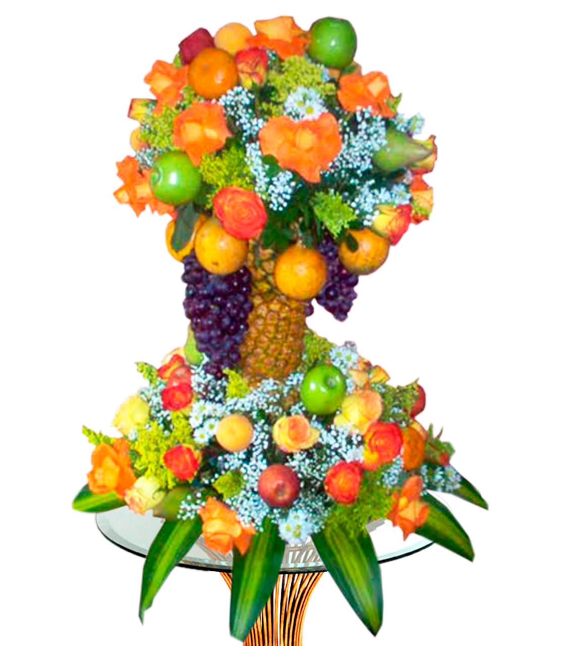 Bouquet de frutas en base de piña