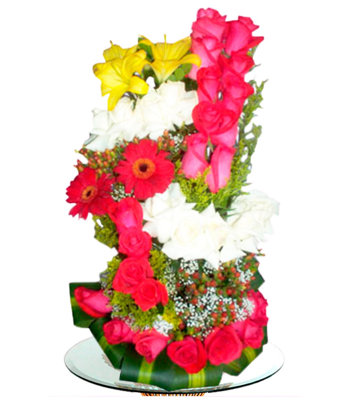 Bouquet en cinco dimencion con gerberas