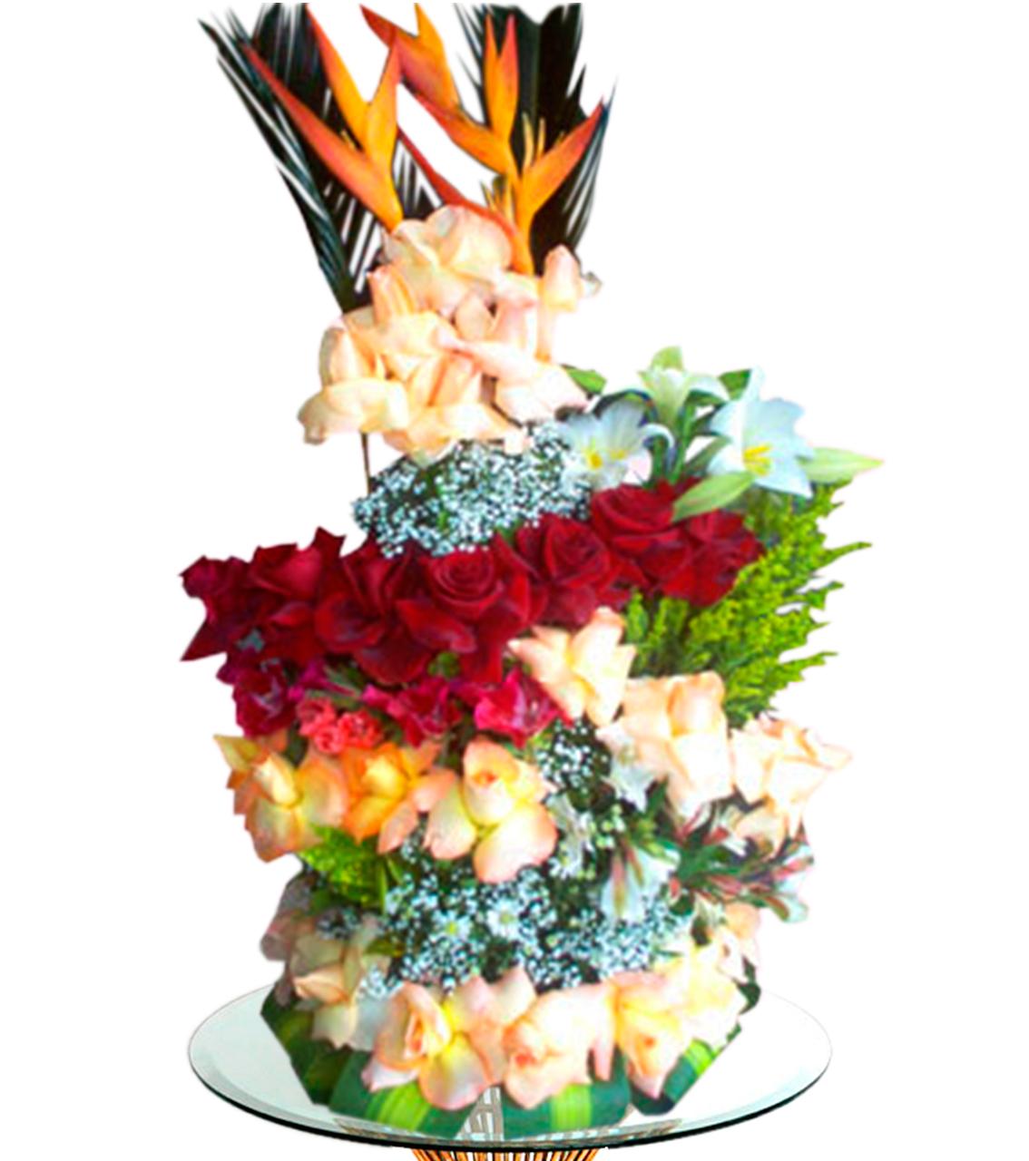 Bouquet en cinco dimencion con sicas