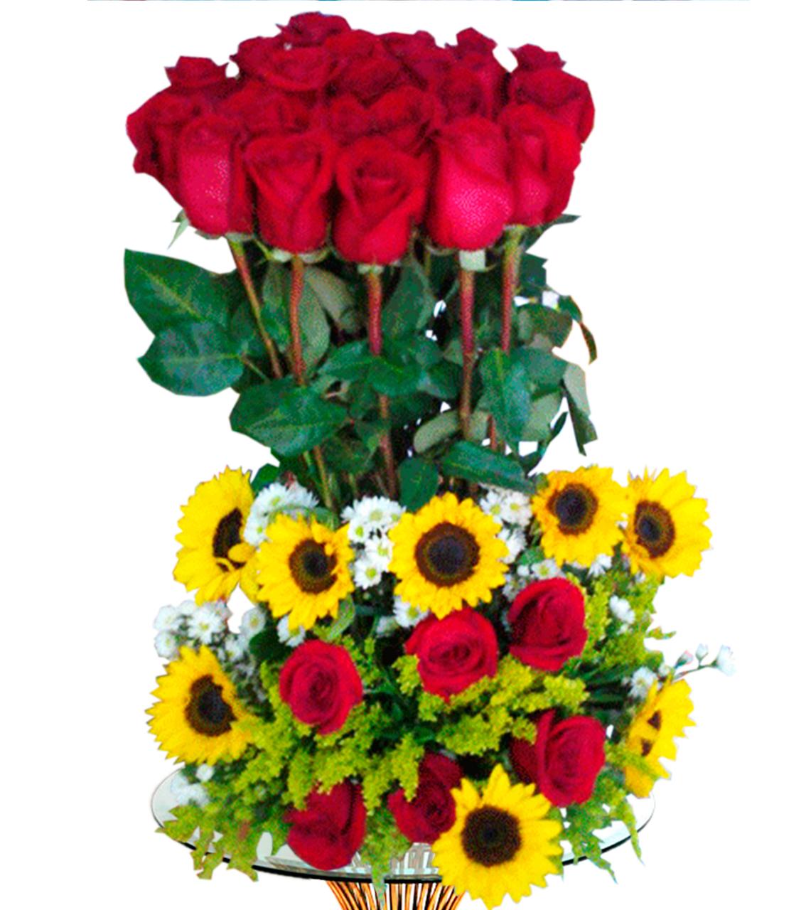 Bouquet con rosas Altas